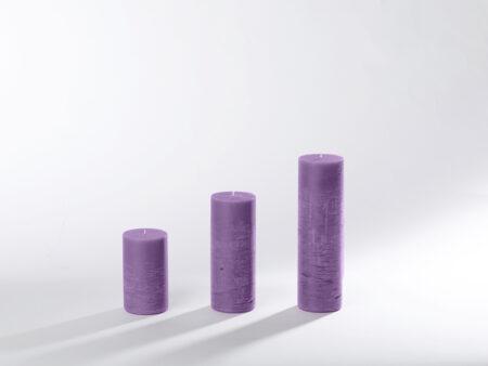 Blockkerzen flieder