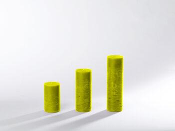 Blockkerzen gelb