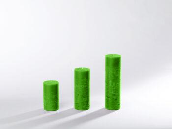 Blockkerzen grasgrün
