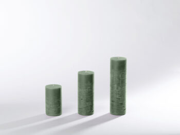 Blockkerzen grau-grün