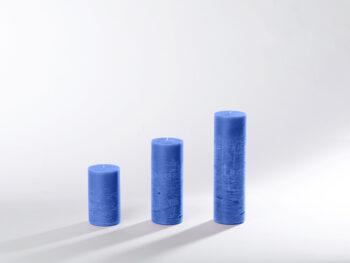 Blockkerzen hellblau