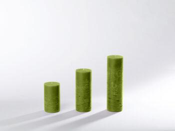 Blockkerzen lindgrün