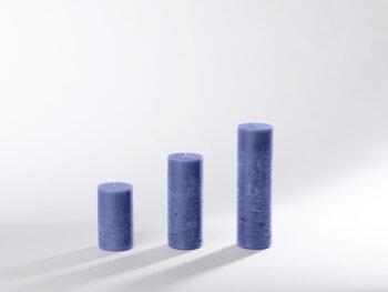 Blockkerzen marineblau