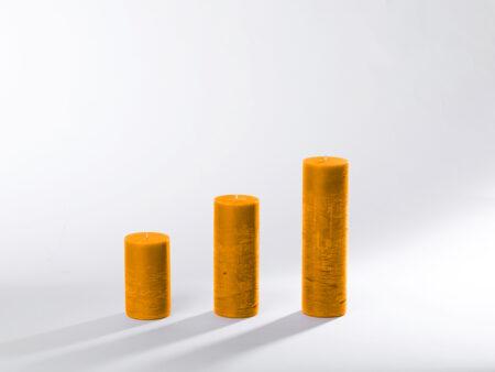Blockkerzen orange