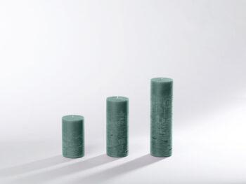 Blockkerzen tannengrün
