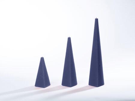Pyramidenkerzen dunkelblau