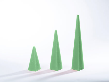 Pyramidenkerzen lindgrün