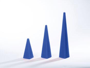 Pyramidenkerzen marineblau