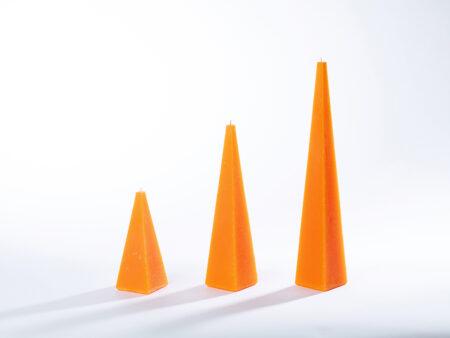 Pyramidenkerzen orange