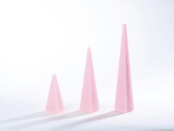 Pyramidenkerzen rosa