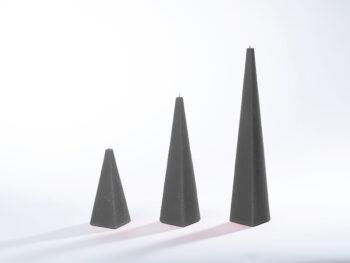 Pyramidenkerzen schwarz