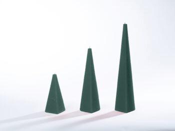 Pyramidenkerzen tannengrün