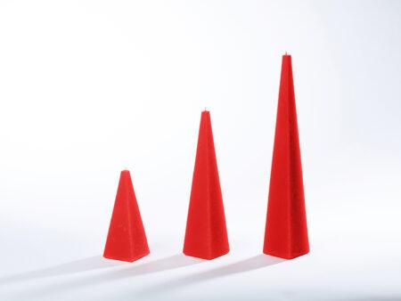 Pyramidenkerzen weihnachtsrot