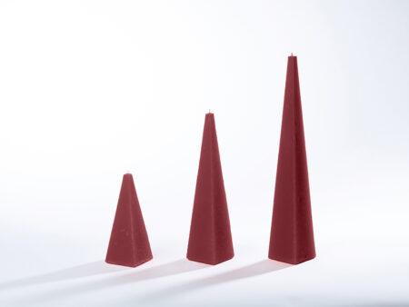 Pyramidenkerzen weinrot