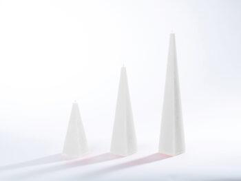 Pyramidenkerzen weiß