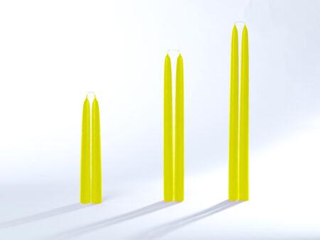 Stabkerzen / Tafelkerzen gelb