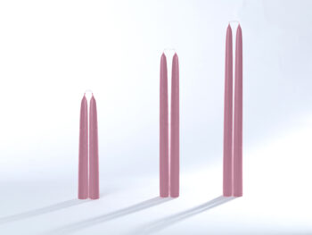 Stabkerzen / Tafelkerzen rosa
