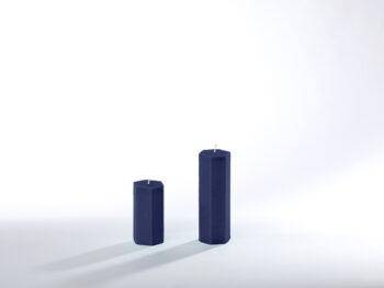 Stearinkerzen dunkelblau