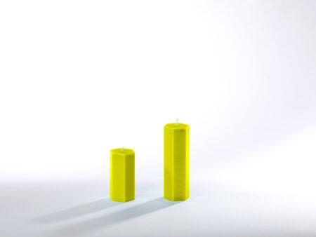 Stearinkerzen gelb