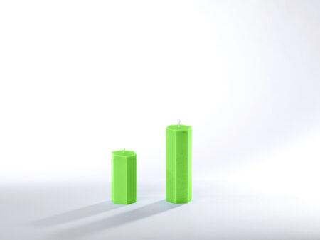 Stearinkerzen grasgrün