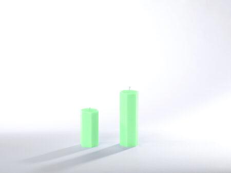 Stearinkerzen hellgrün