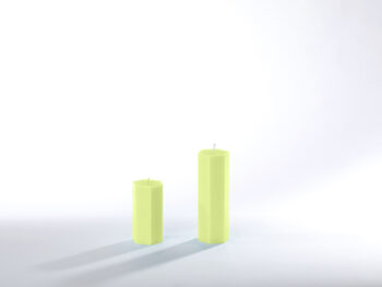 Stearinkerzen lindgrün
