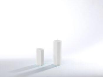 Stearinkerzen weiß